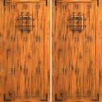 """Knotty Alder Exterior Double Door, Speakeasy, Straps, Clavos - SKU#SW-70_2BrandAAWDoor TypeExteriorManufacturer CollectionWestern-Santa Fe Entry DoorsDoor ModelDoor MaterialWoodWoodgrainKnotty AlderVeneerPrice1940Door Size Options2(30"""") x 80"""" (5'-0"""" x 6'-8"""")  $02(32"""") x 80"""" (5'-4"""" x 6'-8"""")  $02(36"""") x 80"""" (6'-0"""" x 6'-8"""")  +$402(42"""") x 80"""" (7'-0"""" x 6'-8"""")  +$2802(36"""") x 84"""" (6'-0"""" x 7'-0"""")  +$3202(30"""") x 96"""" (5'-0"""" x 8'-0"""")  +$6602(32"""") x 96"""" (5'-4"""" x 8'-0"""")  +$6602(36"""") x 96"""" (6'-0"""" x 8'-0"""")  +$7002(42"""") x 96"""" (7'-0"""" x 8'-0"""")  +$1120Core TypeSolidDoor StyleRusticDoor Lite StyleDoor Panel StyleHome Style MatchingSouthwest , Log , Pueblo , WesternDoor ConstructionTrue Stile and RailPrehanging OptionsPrehung , SlabPrehung ConfigurationDouble DoorDoor Thickness (Inches)1.75Glass Thickness (Inches)Glass TypeGlass CamingGlass FeaturesGlass StyleGlass TextureGlass ObscurityDoor FeaturesDoor ApprovalsDoor FinishesDoor AccessoriesSpeakeasy , Straps , ClavosWeight (lbs)680Crating Size25"""" (w)x 108"""" (l)x 52"""" (h)Lead TimeSlab Doors: 7 daysPrehung:14 daysPrefinished, PreHung:21 daysWarranty1 Year Limited Manufacturer WarrantyHere you can download warranty PDF document."""