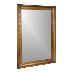Bassett Mirror - Beveled Floor Mirror in Distressed Antique Go - Accent your home with the vintage style of this beveled decorative floor mirror, a lovely piece with a distressed antique gold tone finish frame that gives it the appearance of a treasured antique. The piece is a perfect and perfectly beautiful accent for virtually any room in your home. Rectangle shape. Decorative mirror. Mirror 48 in. W x 72 in. H . Bevel: 1.25 in. . Frame: 6.5 in.. 61 in. L x 86 in. H (110 lbs.)
