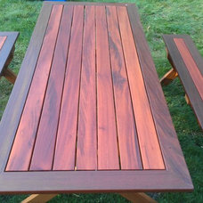 Contemporary Outdoor Dining Tables by World Contracting LLC