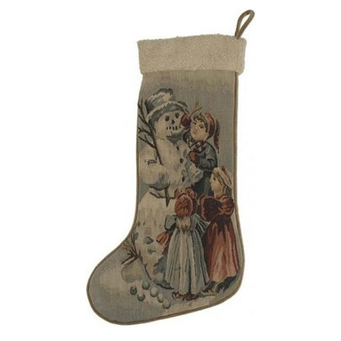 "EuroLux Home - New 13.5""x20"" Christmas Stocking Snow - Product Details"
