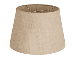 """""""Royal Designs, Inc"""" - Empire Hardback Lampshade - """"This Empire Hardback Lampshade - Linen Belgium 11 x 18 x 13.5 is a part of Royal Designs, Inc. Timeless Hardback Lampshade Collection and is perfect for anyone who is looking for a simple yet stunning lampshade. Royal Designs has been in the lampshade business since 1993 with their multiple shade lines that exemplify handcrafted quality and value."""