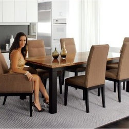 Armen Living Torino Fabric Side Chairs - Beige - Set of 2 - Dinner guests will take pleasure in sitting in the comfort and beauty that are the Armen Living Torino Fabric Side Chairs - Beige - Set of 2. These handsome side chairs feature durable wooden legs in black and fabric upholstery for a contemporary appeal in your dining room.About Armen LivingImagine furniture without limits - youthful, robust, refined, exuding self-expression at every angle. These are the tenets Armen Living's designers abide by when creating their modern furniture collections. Building on more than 30 years of industry experience, Armen Living combines functional versatility and expert craftsmanship into their dramatic furniture styles, all offered at price points fit for discriminating budgets. Product categories include bar stools, club chairs, dining tables, ottomans, sofas, and more. Armen Living is based in Sun Valley, Calif.