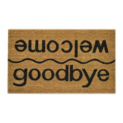 Imports D̩cor - Welcome/Goodbye Door Mat (ID510PVC) - Welcome/Goodbuy
