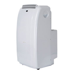 Sunpentown - 11,000 BTU Dual-Hose System Portable Air Conditioner - Dual Hose System with Self-Evaporating Technology!