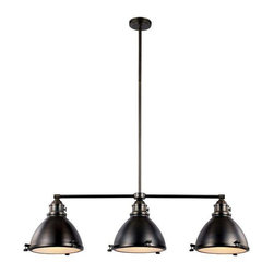 Trans Globe Lighting - Trans Globe Lighting PND-1007 WB Island Light In Weathered Bronze - Part Number: PND-1007 WB