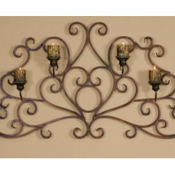 "13446 Juliana, Wall Sconce by uttermost - Get 10% discount on your first order. Coupon code: ""houzz"". Order today."