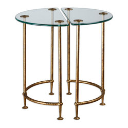 Aralu Glass Side Tables, Set of 2