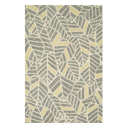 """Loloi Rugs - Loloi Rugs Tropez Collection - Grey/Gold, 3'-6"""" x 5'-6"""" - �Set the foundation for an island lifestyle with our Tropez Collection. Hand hooked in China of 100% polypropylene, Tropez features tropical inspired design with trending-now colors suited for outdoor living. Take a closer look (or zoom in), and you'll notice the use of mixed yarns that give Tropez a refined color blend. And like all of our indoor/outdoor rugs,Tropez is easy to clean and will withstand any rain or sunshine."""