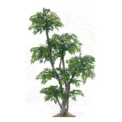 Oriental-Décor - 78-Inch Chinese Ming Tree - If your space has a corner that could use a little perking up, this artificial tree will do just that. Five trunks are made of real wood to give this tree an amazingly lifelike appearance.