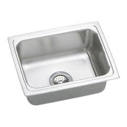 """Elkay - Elkay DLFR251910  25"""" x 19"""" Lustertone Gourmet Sink - Elkay's DLFR251910 is a 25"""" x 19"""" Lustertone Gourmet Sink. This high-quality sink is constructed of 18-gauge, Type 304 nickel bearing stainless steel, and is self-rimming."""