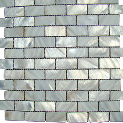 "Mosaicandtilesource - ""OYSTER"" Mother of Pearl Mosaic backsplash shell tile - Italian 1st Quality Designer Shell Mosaics"