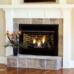 Majestic DBX Series 25'' x 27'' Thermostat Control VENT FREE Gas Fireplace - Consumer-friendly design — The full-featured control panel conveniently lifts off, so you can add a blower or other upgrades with ease.