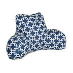 Majestic Home - Indoor Navy Blue Links Reading Pillow - How do you make a bestseller even better? Support yourself with this relaxing reader pillow. With its fresh and fabulous pattern in your decor, you'll enjoy comfort and style — end of story!