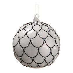 Silk Plants Direct - Silk Plants Direct Glittered Rhinestone Glass Ball Ornament (Pack of 6) - Pack of 6. Silk Plants Direct specializes in manufacturing, design and supply of the most life-like, premium quality artificial plants, trees, flowers, arrangements, topiaries and containers for home, office and commercial use. Our Glittered Rhinestone Glass Ball Ornament includes the following: