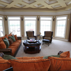 Quaker Residential Project in Lake of the Ozarks - Quaker wood Brighton Series project. Brighton casement windows and arched picture windows and Brighton Sliding Patio Doors.