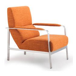 ZUO MODERN - Jonkoping Arm Chair Sunkist Orange - Jonkoping Arm Chair Sunkist Orange