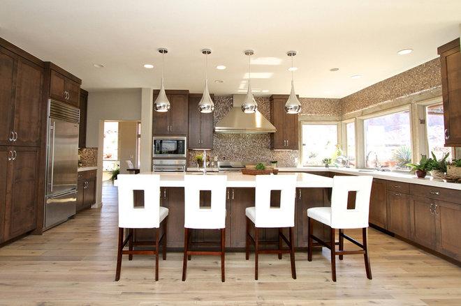 Contemporary Kitchen Cabinets by Venuti Woodworking