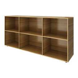 Turnstone - Bivi Big Depot - The Bivi Big Depot is a storage shelf that is perfectly matched to the Bivi system from Turnstone, but it can be used separately as well. Made from manufactured wood with laminate, this shelf has six cubbies.