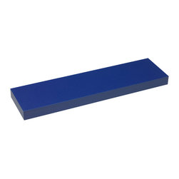 4D Concepts - 4D Concepts Magnetic Shelves 2-Pack in Blue - Choose between blue, red, and pink. The units come with a PVC durable laminate that is easy to clean with just a damp cloth. The shelf is embedded with a metal strip so the magnetic knobs will attach to the long edge of the shelf. This uniquely designed shelf is great for any room in the house of garage. Units comes ready to assemble.
