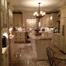Traditional Kitchen by Portico Tile & Fixtures, Inc.