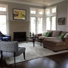 Contemporary Family Room by Heather ODonovan Interior Design