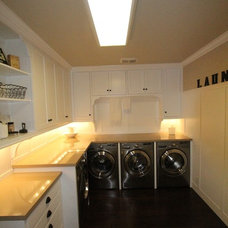 Contemporary Laundry Room by Aloha Home Builders
