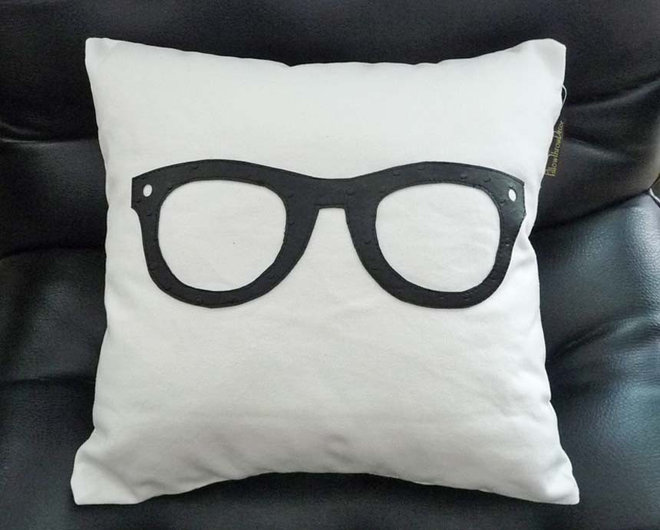 contemporary pillows Geek Pillow