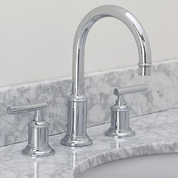 "Hayden Faucet, Chrome finish - Built to the highest industry standards, our low-flow Hayden Faucet is crafted of solid-brass components with a choice of three beautiful finishes. Fits sink openings with an 8"" widespread. A pre-installed aerator restricts water flow to 2.0 GPM Professional installation required. {{link path='pages/popups/sink_hayden_fau_popup.html' class='popup' width='720' height='800'}}Learn more{{/link}} about how to install this faucet. View our {{link path='pages/popups/fb-bath.html' class='popup' width='480' height='300'}}Furniture Brochure{{/link}}. Catalog / Internet Only."