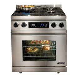 """Dacor Distinctive 30"""" Slide-In Dual Fuel Range, Stainless Steel 