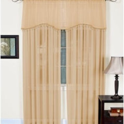 """Elrene Home Fashions - Mystic Sheer Rod Pocket Window Curtain Panel - These solid, sheer window curtain panels quickly add style to any room and match a variety of decors. Panels measure 52"""" wide, hang with a rod pocket and fit a rod up to two inches in diameter."""