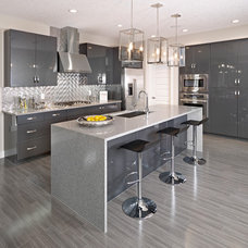 Contemporary Kitchen Countertops by Homes by Avi