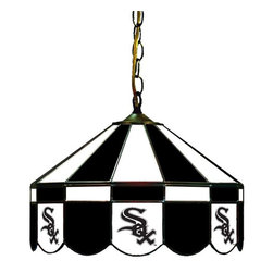 Imperial International - Chicago White Sox MLB 16 - This 16-inch glass lamp is a great way to properly light your Pool Table while showing off your team spirit then. Real stained glass that matches your favorite teams colors. Looks great in any game room. Rack 'Em Up!