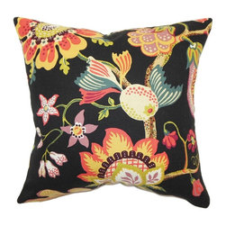 Pillow Collection - The Pillow Collection Calla Floral Pillow - Midnight Multicolor - P18-42156-MIDN - Shop for Pillows from Hayneedle.com! If The Pillow Collection Calla Floral Pillow - Midnight were a place it would definitely be a swinging nightspot. Made of 100% soft cotton this bright square pillow features a plush 95/5 feather/down insert for an ultra-soft feeling. The striking black background features a bold and vibrant floral motif that's sure to add a cheery touch to any room in your home.About The Pillow CollectionIdentical twin brothers Adam and Kyle started The Pillow Collection with a simple objective. They wanted to create an extensive selection of beautiful and affordable throw pillows. Their father is a renowned interior designer and they developed a deep appreciation of style from him. They hand select all fabrics to find the perfect cottons linens damasks and silks in a variety of colors patterns and designs. Standard features include hidden full-length zippers and luxurious high polyester fiber or down blended inserts. At The Pillow Collection they know that a throw pillow makes a room.