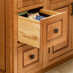 CliqStudios.com - Drawer Base - Full extension drawer base cabinets provide complete drawer access to maximize storage and organization of silverware, cooking utensils, spices, towels, garbage bags, can openers, mixers and all other non-food kitchen accessories and small appliances.