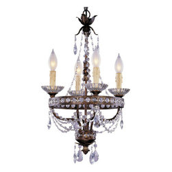 Savoy House - Crystal 4 Light Mini Chandelier - Features:
