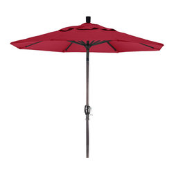 California Umbrella - 7.5 Foot Sunbrella Aluminum Crank Lift Push Tilt Patio Umbrella, Bronze Pole - California Umbrella, Inc. has been producing high quality patio umbrellas and frames for over 50-years. The California Umbrella trademark is immediately recognized for its standard in engineering and innovation among all brands in the United States. As a leader in the industry, they strive to provide you with products and service that will satisfy even the most demanding consumers.