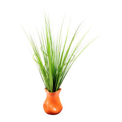 Vickerman - Fresh Grass Orange Vase - Fresh Grass Orange Vase