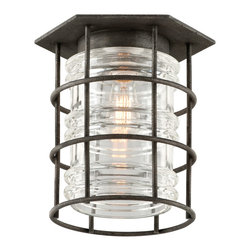 Troy-CSL Lighting - Troy-CSL Lighting C3790 Brunswick 1 Light Outdoor Ceiling Lights in Aged Pewter - This 1 light Outdoor Flush Mount from the Brunswick collection by Troy Lighting will enhance your home with a perfect mix of form and function. The features include a Aged Pewter finish applied by experts. This item qualifies for free shipping!