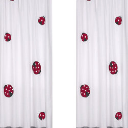"Sweet Jojo Designs - Little Ladybug Window Panels (Set of 2) - Create a stylish look for your child's room with the Little Ladybug Window Panels (Set of 2). This set features 2 Window Panels that are 42"" x 84"" each."