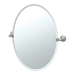 "Gatco - Laurel Ave Tilting Beveled Oval Wall Mirror - Gatco's Laurel Avenue collection is an elegant display of Polished and Satin Nickel at an affordable price. Brighten your bathroom's appeal with sophisticated pieces of treasure. Features: -Tilting beveled wall mirror. -Laurel Avenue collection. -Satin Nickel finish. -Oval shape. Specifications: -Overall Dimensions: 26"" Height x 19.5"" width."