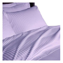 SCALA - 600TC 100% Egyptian Cotton Stripe Lilac Olympic Queen Size Flat Sheet - Redefine your everyday elegance with these luxuriously super soft Flat Sheet  . This is 100% Egyptian Cotton Superior quality Flat Sheet that are truly worthy of a classy and elegant look.