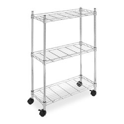 None - Whitmor Supreme 3-Tier Laundry Cart - This practical three-tier laundry cart is just the thing for organizing your laundry room. Heavy duty casters provide maneuverability, and its steel construction is durable and easy to clean. The shelves are adjustable for even more flexibility,