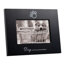 LSC Accessories - 'Cold Nose Warm Heart' Frame - Show off a photo of your furry friend in this sleek frame. With a playful saying and elegant wood design, it adds a touch of adorable animal style to your home.   8'' W x 6'' H Holds 4'' x 6'' photo Medium-density fiberboard Easel back Imported