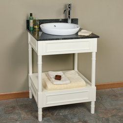 "24"" Avis Creamy White Console Vanity for Semi-Recessed Sink - Instantly add a classic look to your bathroom with the 24"" Avis Console Vanity, a petite yet sltylish option for adding valuable storage to your bath. ."