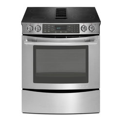 "Jenn-Air 30"" Slide-in Electric Downdraft Range, Stainless/blk 