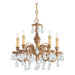 Crystorama - Crystorama Novella 1 Tier Chandelier in Olde Brass - Shown in picture: Ornate Cast Brass Chandelier Accented with Swarovski Elements Crystal; The Novella Collection's Olde Brass finish and ornate designs make this European series a perfect fit for any traditionalist.