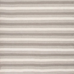 Jaipur Rugs - Indoor-Outdoor Easy Care Polyester Gray/Ivory Area Rug ( 8x10 ) - Bring the comfort of inside, outside, with these reversible woven rugs.  Stripes can coordinate and can be used in multiple areas of the home or patio.