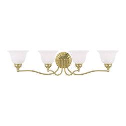 Livex Lighting - Livex Lighting 1354-02 Bath Light - Glass Type/Shade Type: White Alabaster Glass