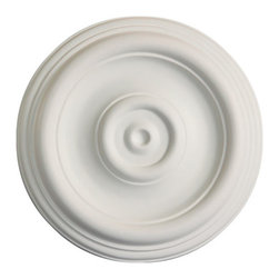 uDecor - MD-5084 Ceiling Medallion - Ceiling medallions and domes are manufactured with a dense architectural polyurethane compound (not Styrofoam) that allows it to be semi-flexible and 100% waterproof. This material is delivered pre-primed for paint. It is installed with architectural adhesive and/or finish nails. It can also be finished with caulk, spackle and your choice of paint, just like wood or MDF. A major advantage of polyurethane is that it will not expand, constrict or warp over time with changes in temperature or humidity. It's safe to install in rooms with the presence of moisture like bathrooms and kitchens. This product will not encourage the growth of mold or mildew, and it will never rot.
