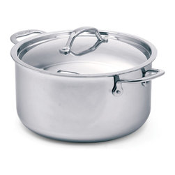 Cuisinox - Cuisinox Elite 7.8 qt Covered Dutch Oven - The high luster mirror finish combined with the arched top lid gives this dutch oven its unique look and style. Stainless steel rivets permanently attach our cast stainless steel handles. A pure 18/10 stainless steel assures long-lasting brilliance and easy maintenance. Our 3-ply Surround-Heat technology distributes heat evenly and efficiently.